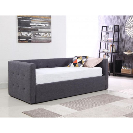Congo Day Bed Linen Fabric Grey Bedshowroom